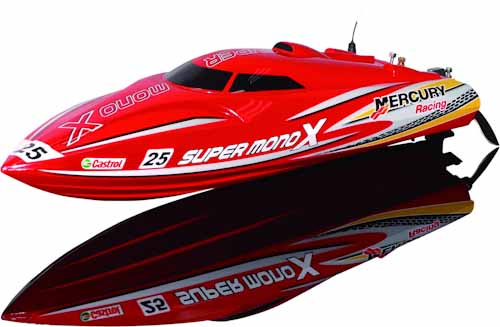 SUPER MONO X RC BOAT RTR 2.4G W/LIPO BATTERY & CHARGER