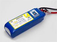 HYPERION LCX 2500 MAH 2S 18C LITHIUM POLYMER BATTERY PACK (7.4V)