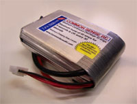 7.4 volt - 2000mAh 15C Li-Poly Pack for the Losi Mini T